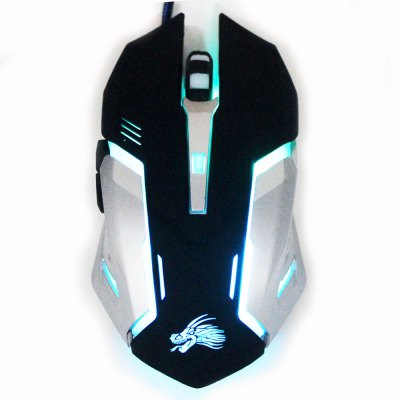V9 Cable Computer Games Gaming Mouse Photoelectric LED Breathing Lights