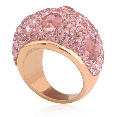 New Diamond Ring Women Rose Gold Stainless Steel Jewelry Gift