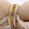 Fashion New Ring Personalized Two Rows of 18K Gold Plated Middle Chain Jewelry - GOLDEN