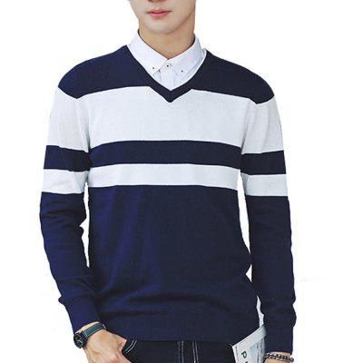 Pull pour homme Comfy Striped Trendy Casual All Tricots