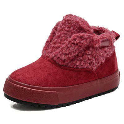 Children Shoes 2017 Winter New Style with Cotton Warmth and High Help for Leisure Student Boots
