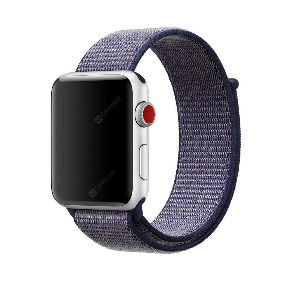 Woven Nylon Sport Loop Bracelet Watch Strap for 38mm iWatch Series 3 / 2 / 1