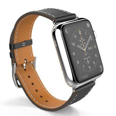 42MM For Apple Watch Band Leather Blue Luxury Genuine Watchband Bracelet Replacement Wrist Band with Adapter Clasp