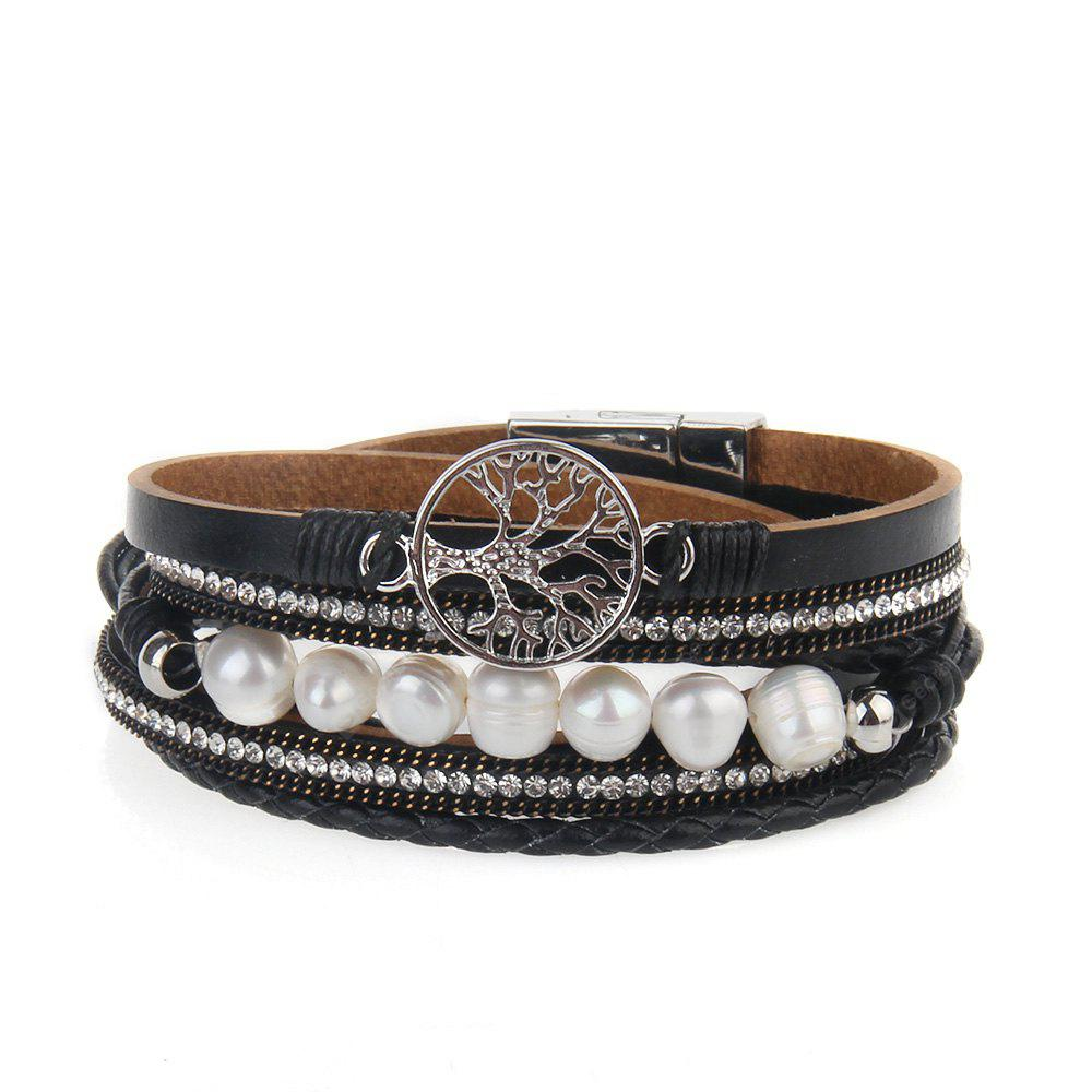 Hot vente ornements de mode vie arbre multi-couche perles bracelet