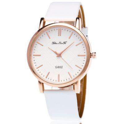 ZhouLianFa New Casual Simple Smooth Leather Strap Business Ladies Quartz Watch