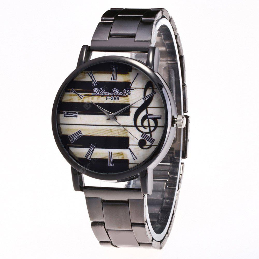 ZhouLianFa New Trend of Outdoor Business Band Musical Notes Quartz Watch