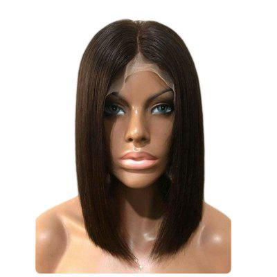 Real and Soft Short Bob Hair Free Part Synthetic Lace Front Wigs lace front synthetic wigs with short bob straight dark root to pink ombre hair wig synthetic lace front wigs for women