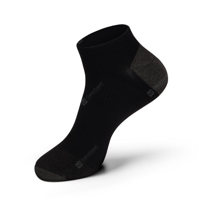 BLACK Casual Men Combed Cotton Antibacterial and Anti-odor Ankle Socks