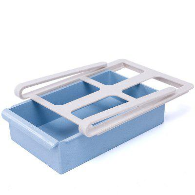 Multi-Purpose Handle Design Refrigerator Drawer Type Storage Box