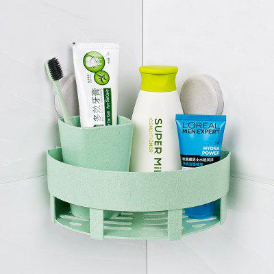 Powerful Suction Cup Wall-hang Triangular Bathroom Shelf