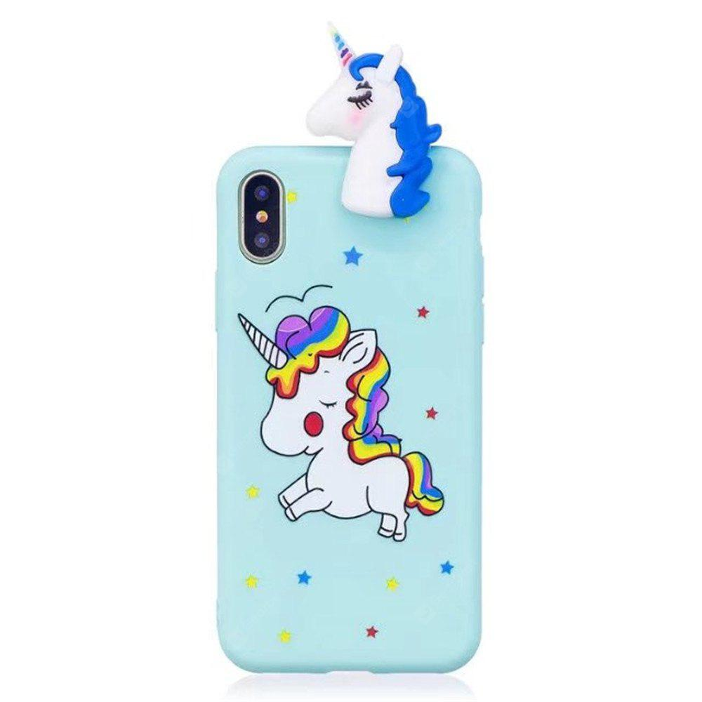 Creative TPU Color Painted Silicon Rubber Protective Case para iPhone X