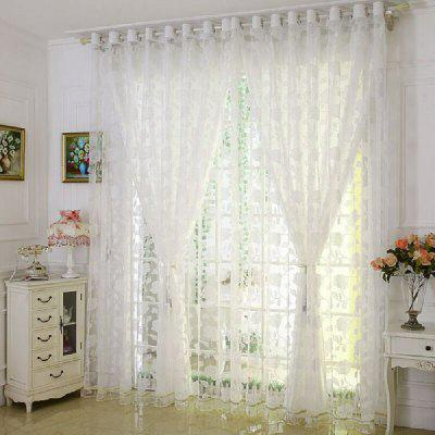 Cotton Peony Flowers European Curtains