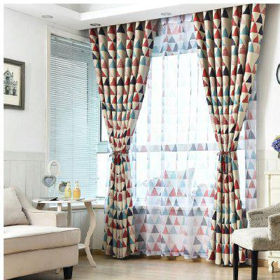 Geometric Triangle Shading Curtain
