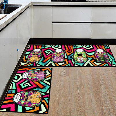 Buy Door Mat Cute Cartoon Cat Pattern Soft Antiskid Kitchen Floor Mat COLORMIX 80X120CM for $40.48 in GearBest store