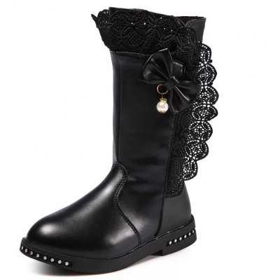 Winter Princess Leather Martin Boots
