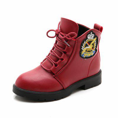 Plush Martin Boots for Girls