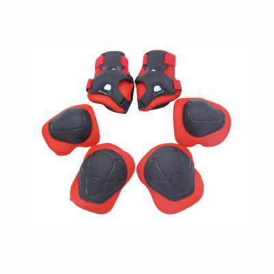Skating Skating Set for Children Knee Care Elbow Protector 6-Piece Cycling Skate Protective Set