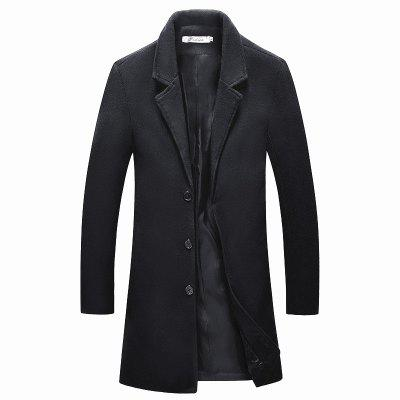 The New Winter Single Breasted Long Slim Men Thin Coat D167