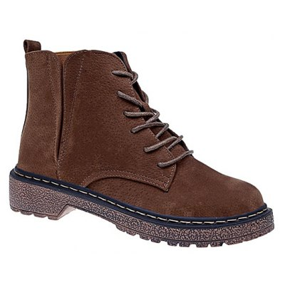 Winter Boots All-Match British Style Lace Martin Boots
