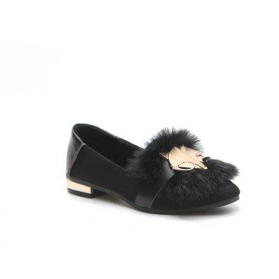 New Autumn Female All-Match Doug Winter Velvet Pedal Lazy Scoop Shoes