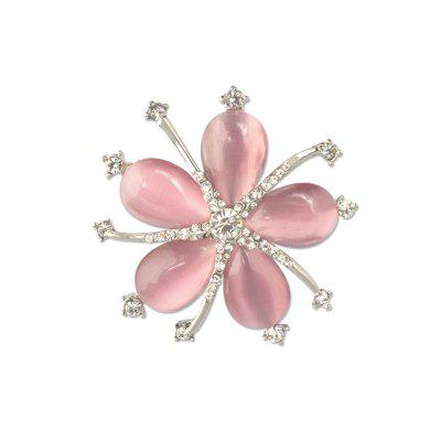 Estilo de moda Crystal Opal Diamante Starfish Party Broche para mujer