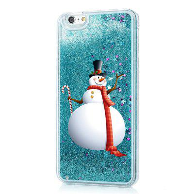 Christmas Cartoon Element Liquid Sparkle Floating Luxury Protective Bumper Silicone Case for iPhone6 / 6S