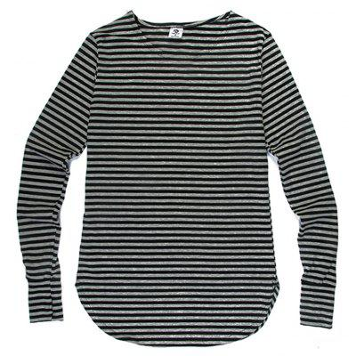 Men'S Striped Long-Sleeved T-Shirts