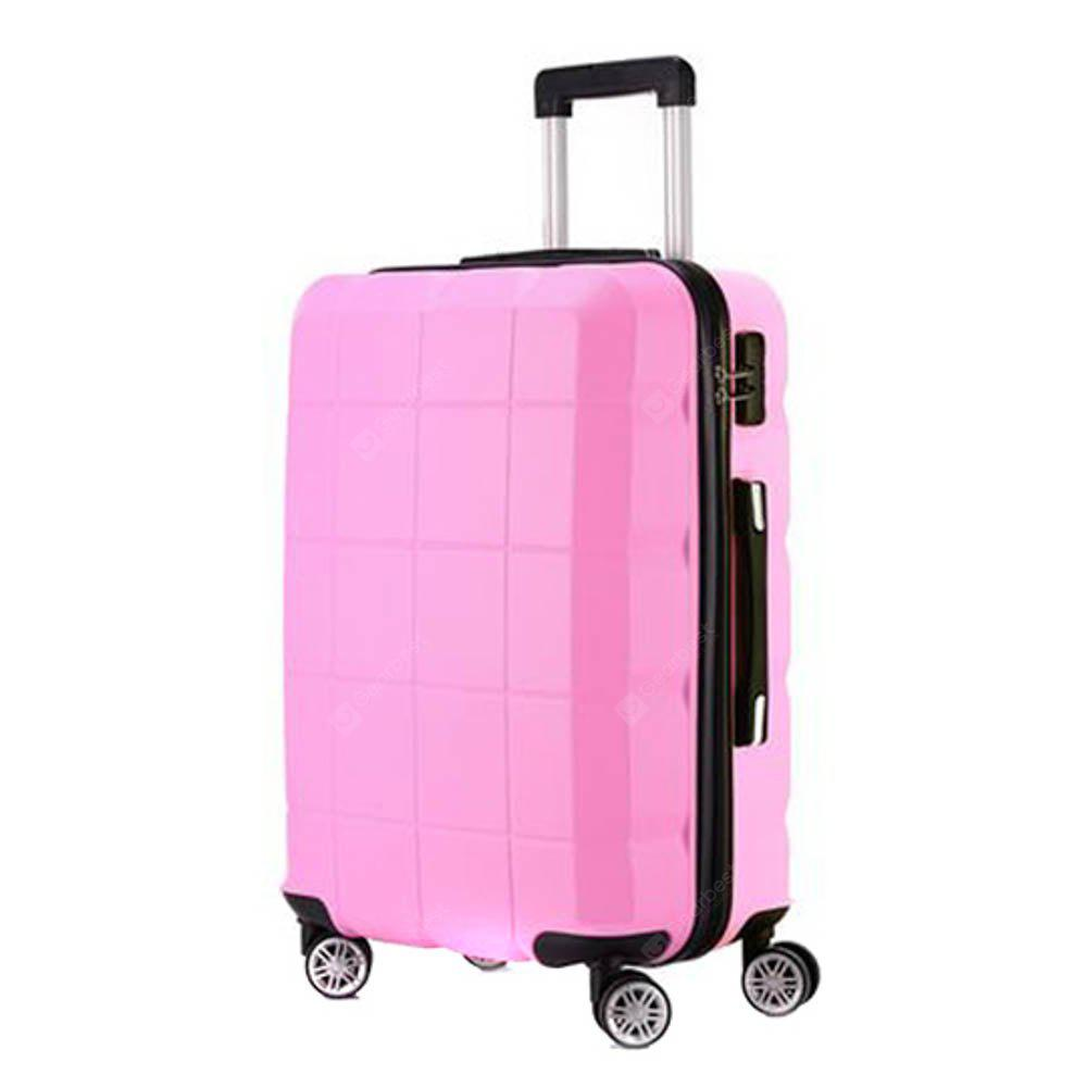 Korean Creative Suitcase Cute Trolley Case Student Caster Suitcase Children Luggage Single Color Luggage PINK