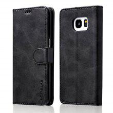 LC.IMEEKE Solid Color Horizontal Flip Stand Wallet Case for Samsung Galaxy S7