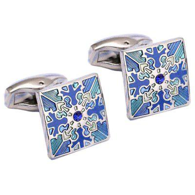 Men's Cufflinks All Match Rhinestone Square Cuff Buttons Accessory