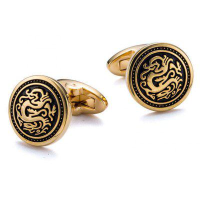 Men's Cufflinks Fashion Personality Business Round Cuff Buttons Accessory