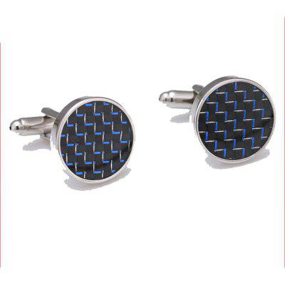 Men's Cufflinks All Match Round Simple Business Cuff Buttons Accessory