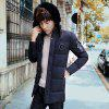 Men's Fashionable Cotton Coat - BLACK