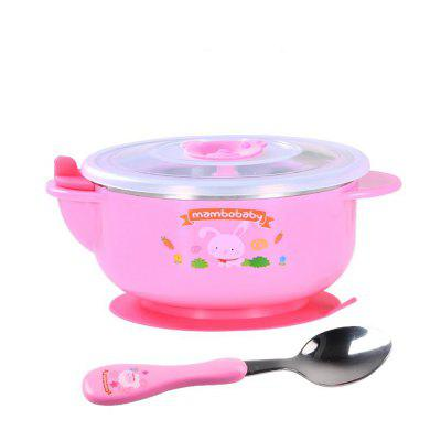 Children's water infusion cup stainless steel bowl to send spoon