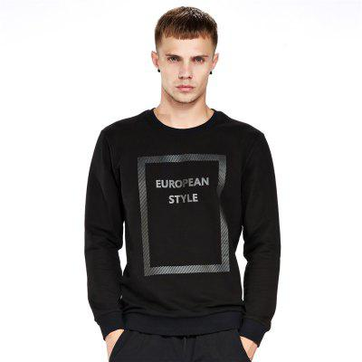 Men's Sweatshirt Casual Letter Print Comfy All Match Long Sleeve Sweatshirt