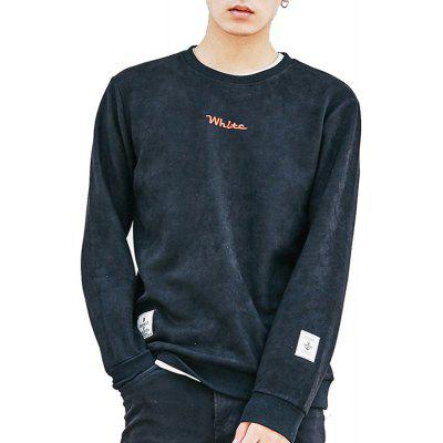 Sweatshirt O Neck manches longues broderie lâche pull pour hommes