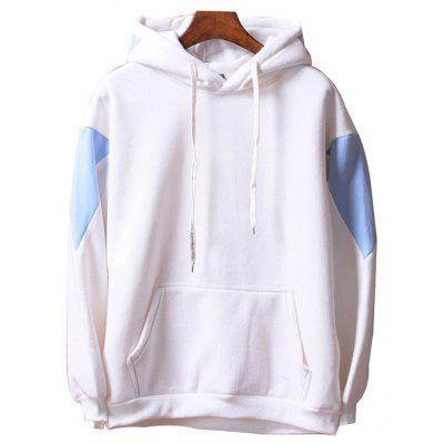 Men's  Loose Patchwork All Match Hoodie