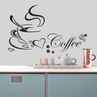 DSU Coffee Cup Living Room Table Cocina Generación Pegatinas de pared