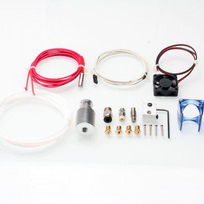 3D Printer V6 Hot End Kit 1.75 / 0.4mm Nozzle for E3D