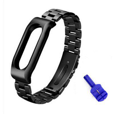 Stainless Steel Metal Replacement Watch Strap for Xiaomi Miband 2