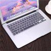 Transparent Waterproof Keyboard Film Protective Cover Notebook Keyboard Protector Cover Film for Macbook Air 13 - CLEAR WHITE