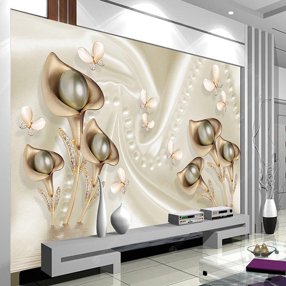 Wallpaper 448X280 Cm 3D Canvas Mural Mural de pared Flower Modern Nature No solo adhesivo