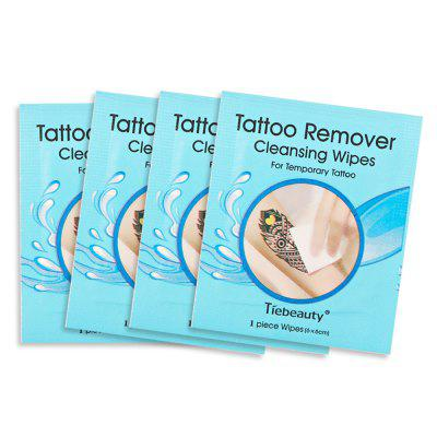 4pcs Tattoo Removers Cleansing Wipes Set For Temporary Tattoo