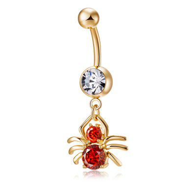 Personality Spider CZ Navel Ring P0173