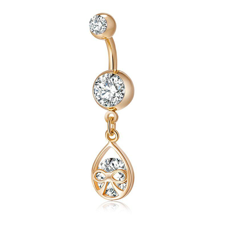 Lovely Bow Knot Exquisite Zircon Navel Ring P0182