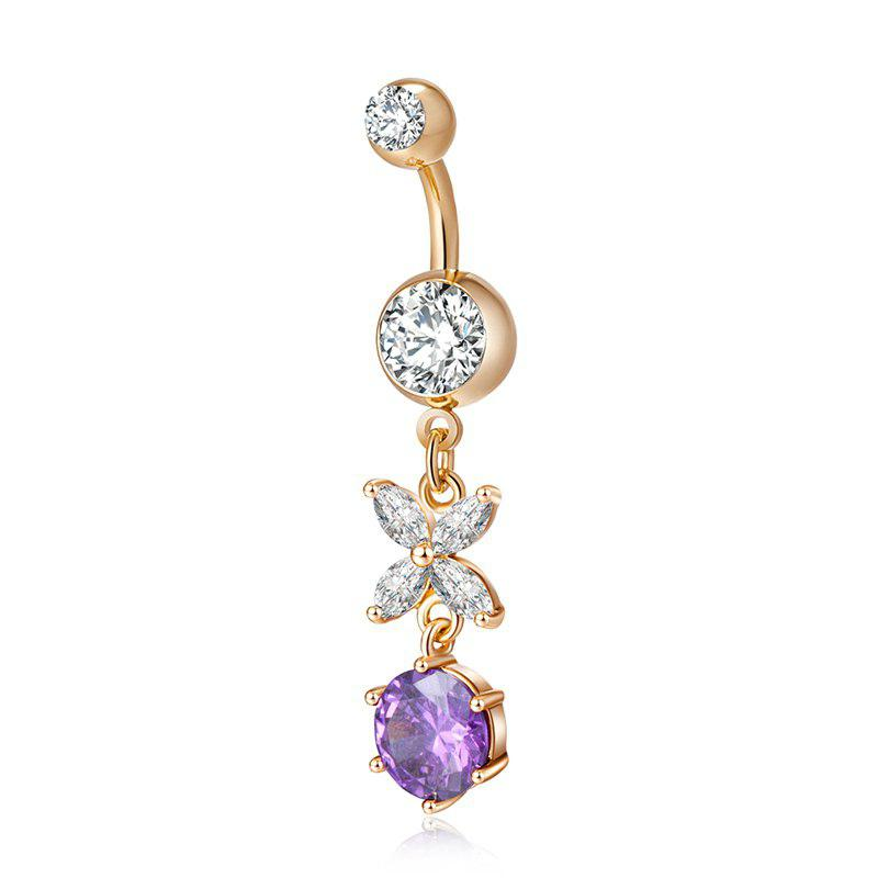 Lovely Butterfly Exquisite Zircon Navel Ring P0207