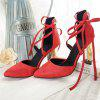 Chaussures Miss Ascpb-5 à talons hauts Fashion Bandage Fashion Bandwagon - ROUGE