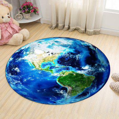 Buy BLUE 120X120CM Floor Rug Modern Chic Earth Pattern Round Rug for $60.51 in GearBest store