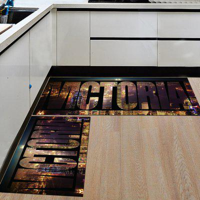 Buy DEEP BROWN 50X160CM Kitchen Floor Mat Simple Big Letters Pattern Soft Door Rug for $33.35 in GearBest store