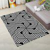 Buy BLACK WHITE, Home & Garden, Home Textile, Carpets & Rugs for $8.07 in GearBest store